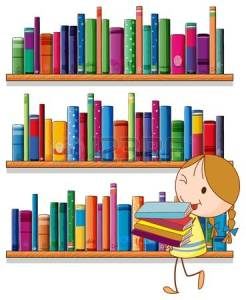 20518176-illustration-d-une-petite-fille-dans-la-biblioth-que-sur-un-fond-blanc