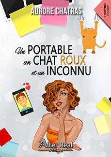 Un portable un chat roux et un inconnu